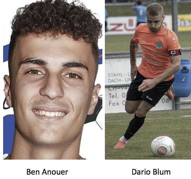 Dario Blum und Ben Anouer wechseln zum FC Rorschach Goldach 17
